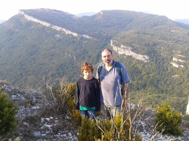 El poblado de la Edad de Hierro Tullica desde el castillo de Korres